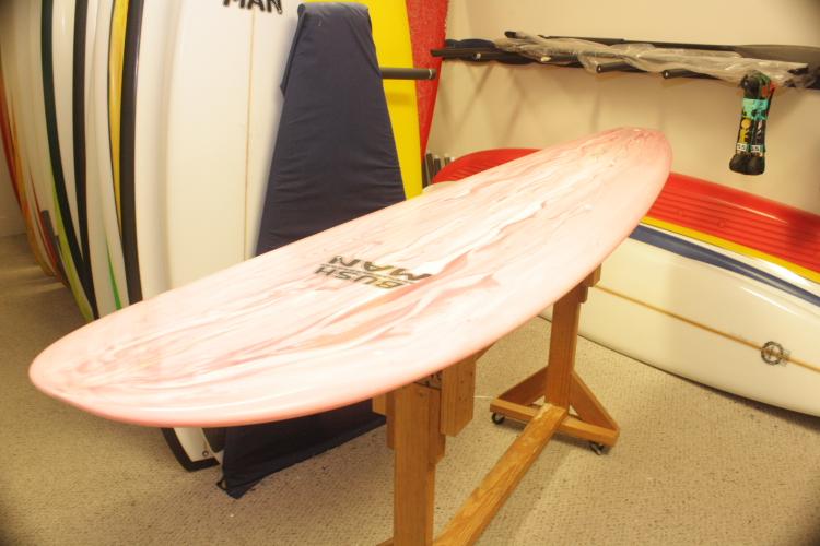 Bushman Longboard - Pink Marble